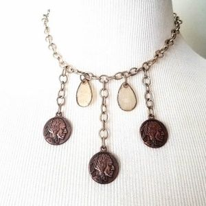 Jewelry - Shell & Faux Indian Penny Southwestern Necklace